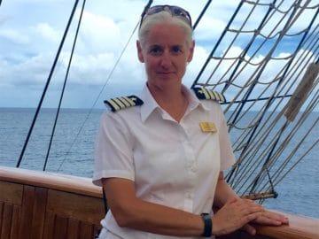 Kathryn Whittaker ist ab sofort Kapitän der Sea Cloud II / © Sea Cloud Cruises