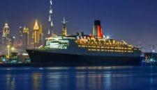 Queen Elizabeth 2 öffnet als Hotelschiff in Dubai (Port Rashid)