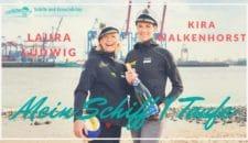Taufpatin der Mein Schiff 1: Gold Beachvolleyballerinen Kira Walkenhorst und Laura Ludwig