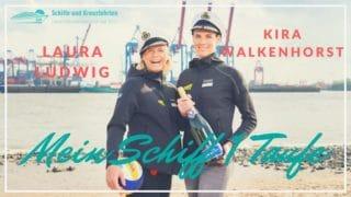 Taufpatinnen der Mein Schiff 1 - Kira Walkenhorst und Laura Ludwig - Olympia Siegerinnen von Rio im Beachvolleyball / © TUI Cruises