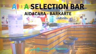 AIDA Selection Bar: Karte (Gin & Vodka Kreationen, Whisky, Wein & Säfte)