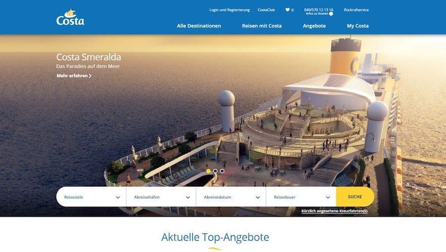 Neue Costa Webseite