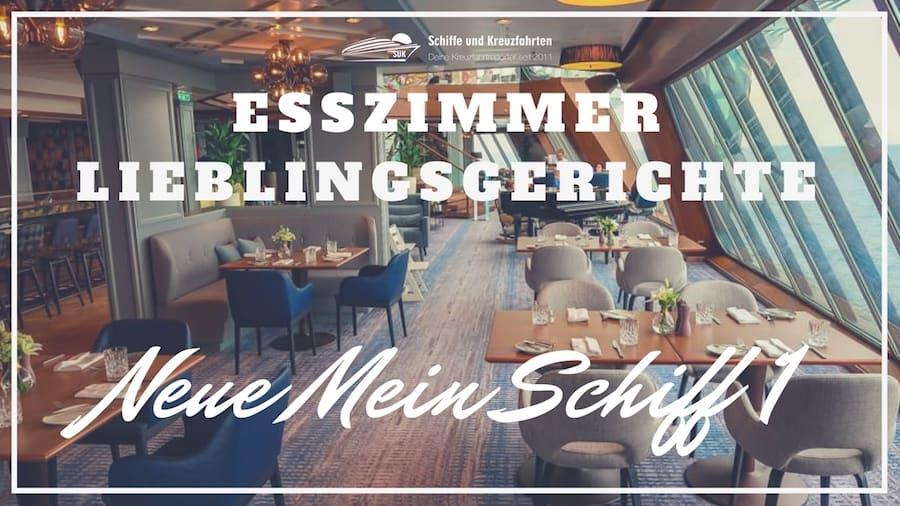 """Spezialitäten Restaurant """"Esszimmer - Lieblingsgerichte"""" auf der neuen Mein Schiff 1"""