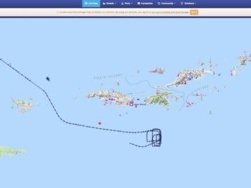 Das MOB-Manöver der MSC Seaside / © Marinetraffic (Screenshot)