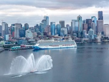 Die Norwegian Bliss wurde in Seattle von Elvis Duran getauft / © Norwegian Cruise Line