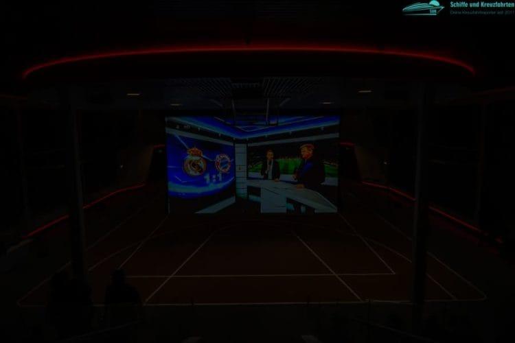 Fußballübertragung in der Multiplex Arena