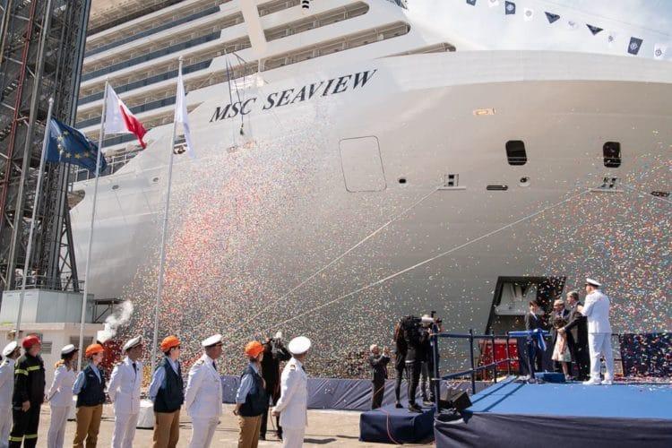 MSC Seaview wurde an MSC Cruises übergeben | Foto © MSC Cruises
