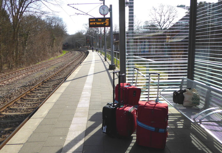 Anreise mit dem Zug von Bremen nach Hamburg