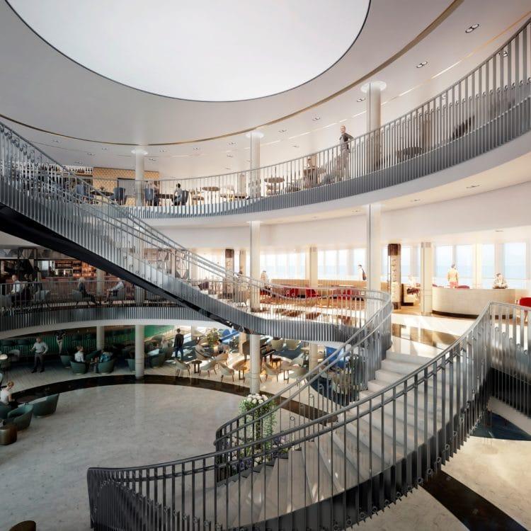 Das Atrium der neuen P&O Iona / ©P&O Cruises