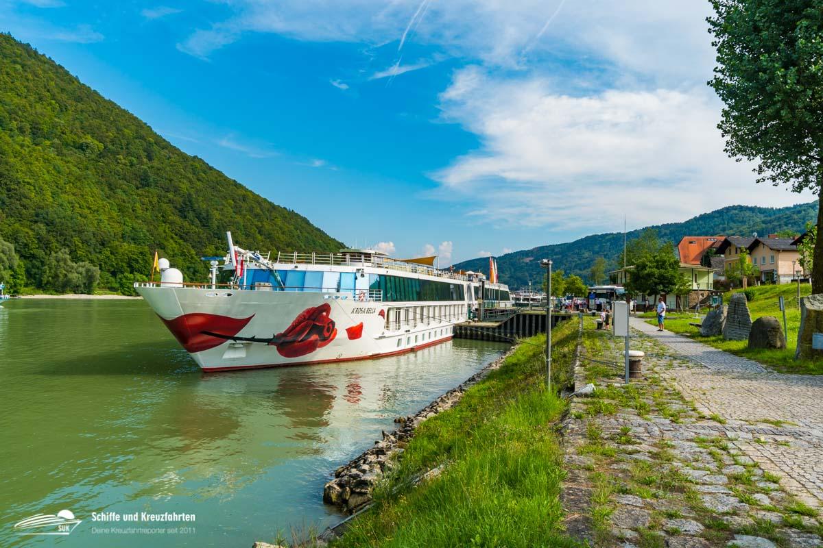 Unser Schiff - die A-Rosa Bella in Engehartszell