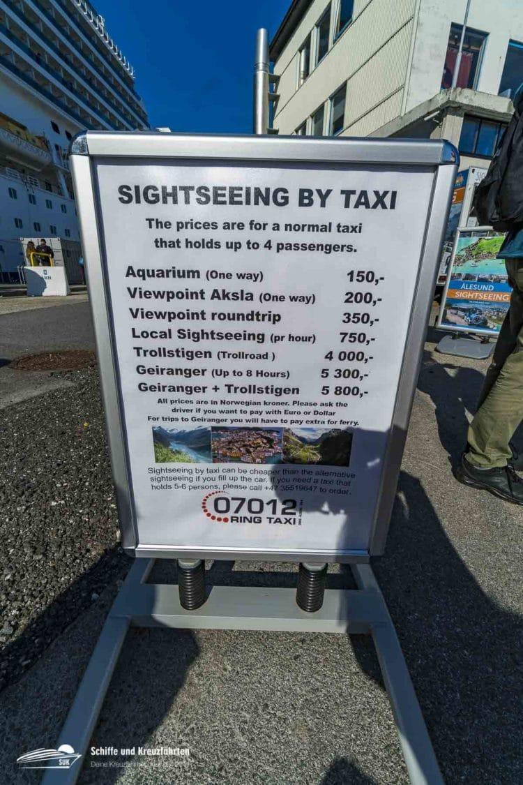 Taxipreise Ålesund