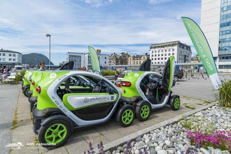 Renault Tweezys zum mieten in Ålesund