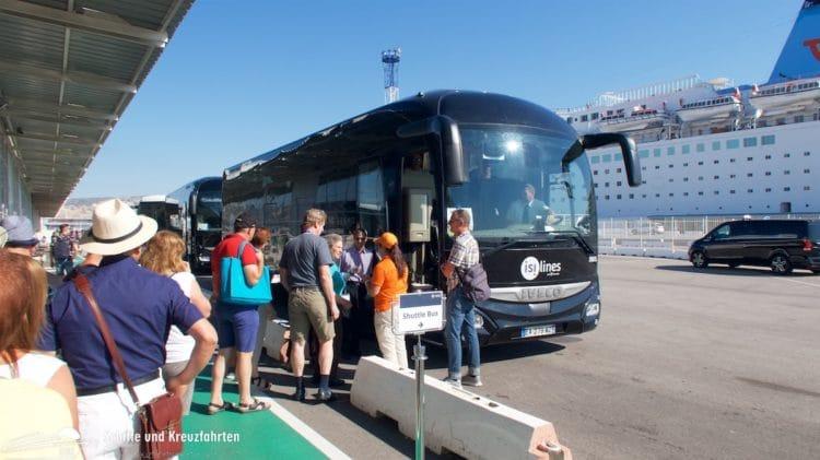 Mit dem Shuttle nach Marseille