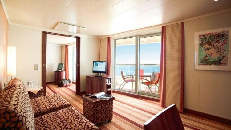 AIDAdiva Premim-Suite mit privatem Sonnendeck © AIDA Cruises