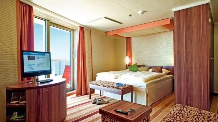 AIDAdiva Suite mit privatem Sonnendeck © AIDA Cruises