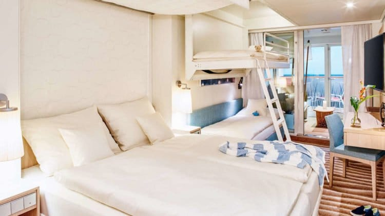AIDAnova Verandakabine Deluxe © AIDA Cruises