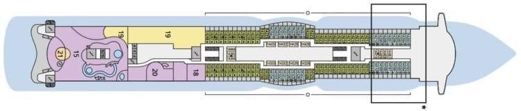 AIDAperla Deck 14 © AIDA Cruises
