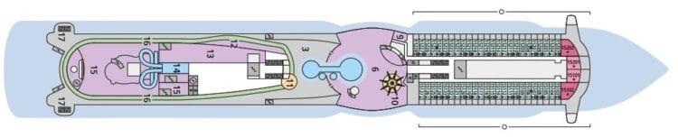 AIDAperla Deck 15 © AIDA Cruises