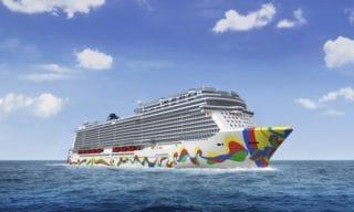 Die Bugbemalung der Norwegian Encore / ©Norwegian Cruise Line