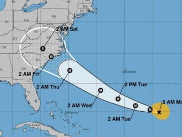 Verlauf des Hurricane Florence / © National Hurricane Center
