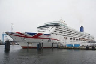 Erstanlauf der P&O Aurora in Kiel / ©Port of Kiel