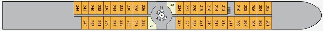 A-Rosa Aqua Deckplan Deck 2 / ©A-Rosa Flussreisen