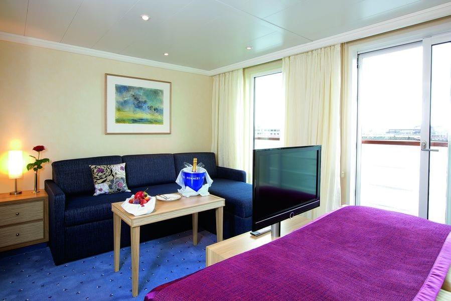 A-Rosa 2-Bett Junior Suiten mit franz. Balkon Kategorie E / ©A-Rosa Flussreisen