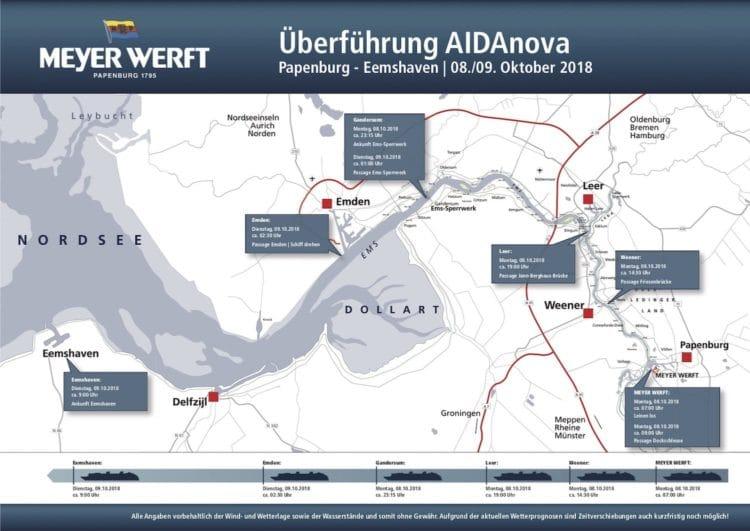Detailplan der AIDAnova Emsüberführung / © Meyer Werft