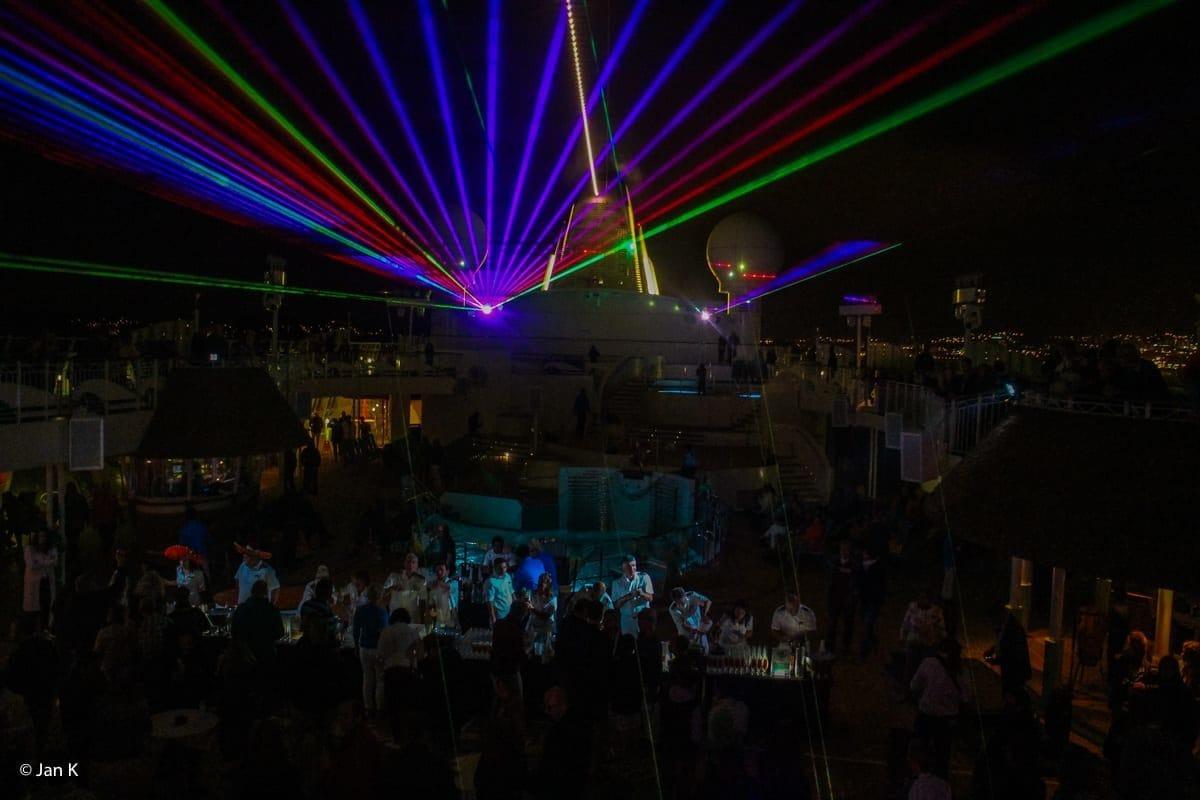 Lasershow auf AIDAvita