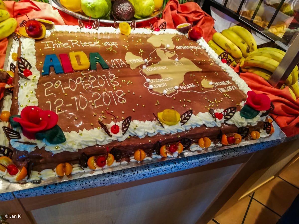 AIDAvita Farewell Torte