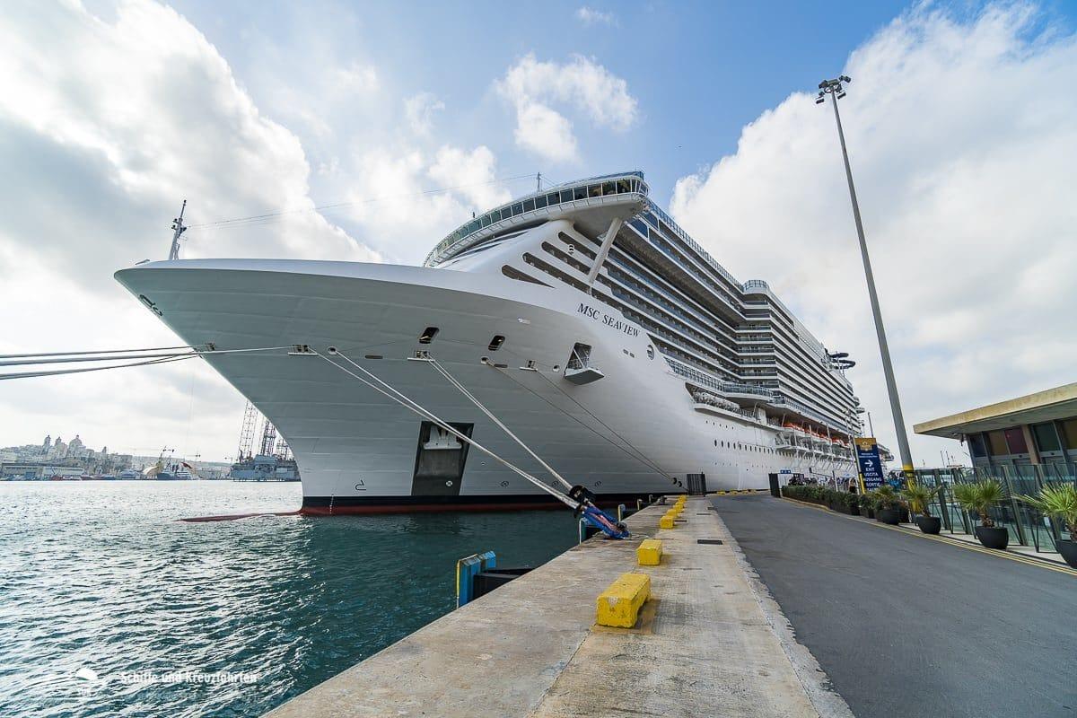 MSC Seaview in Valletta / Malta