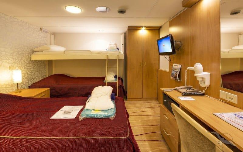 MS Albatros: 3-Bett Innenkabine / ©Phoenix Reisen