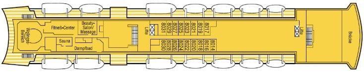 MS Albatros Deckplan Deck 8 / ©Phoenix Reisen