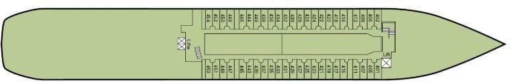 MS Amadea: Deckplan - Deck 4 / © Phoenix Reisen