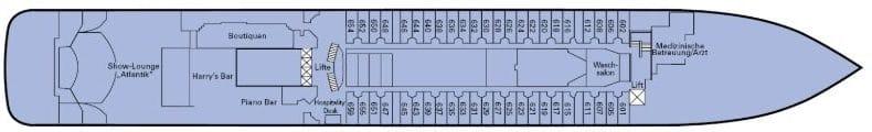 MS Amadea Deckplan - Deck 6 / Phoenix Reisen