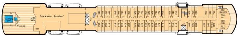 MS Amadea Deckplan - Deck 7 / ©Phoenix Reisen