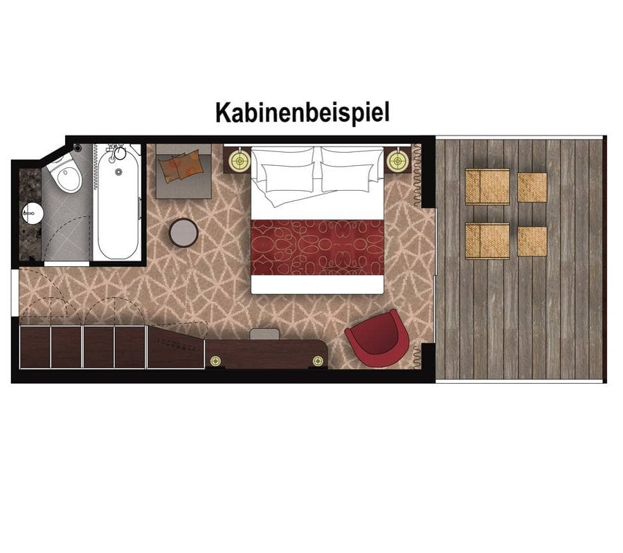 MS Amera: 2-Bett Superior mit Balkon / ©Phoenix Reisen