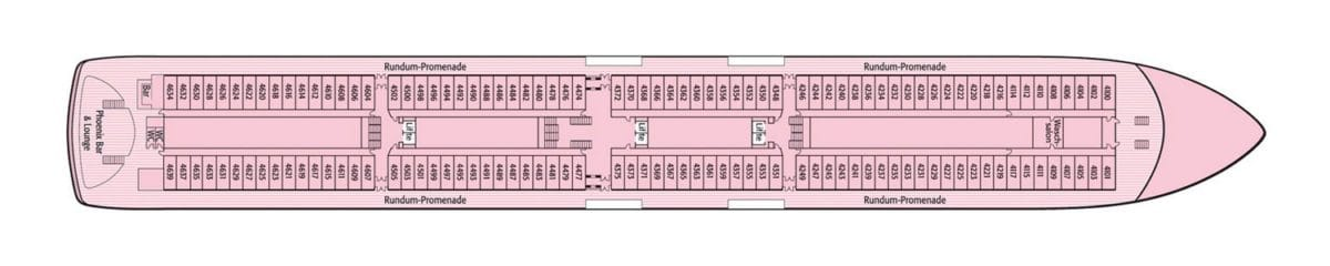 MS Artania Deck 4 / Phoenix Reisen