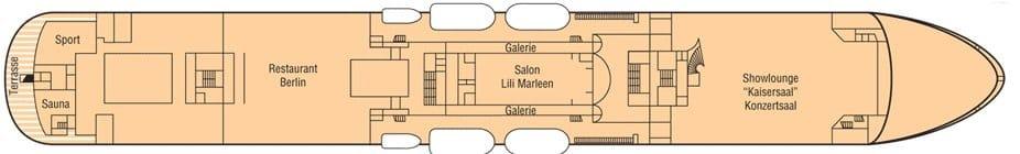 MS Deutschland Deckplan Deck 6 / ©Phoenix Reisen