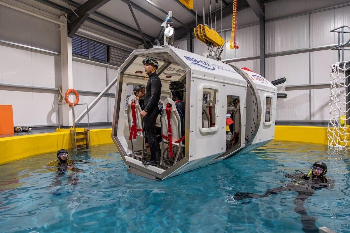 hamburg neues maritimes rescue traingings center ma co er ffnet. Black Bedroom Furniture Sets. Home Design Ideas