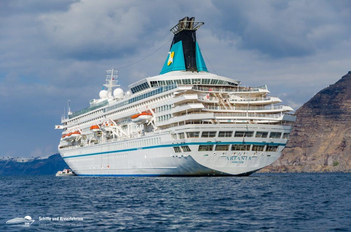 Ausschiffung an Bord der MS Artania hat begonnen