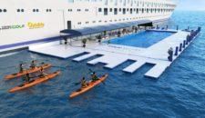 Blue World One: Erstes Luxus-Kreuzfahrtschiff mit aufblasbarem Pool auf dem Meer (ex Celestyal Nefeli)