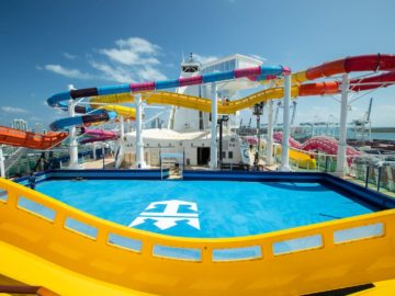 The Blaster & Rip Tide slides on Navigator of the Seas Royal Amplified.