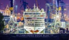 AIDAluna wird im April 2019 bei Blohm und Voss modernisiert (Almhütte)
