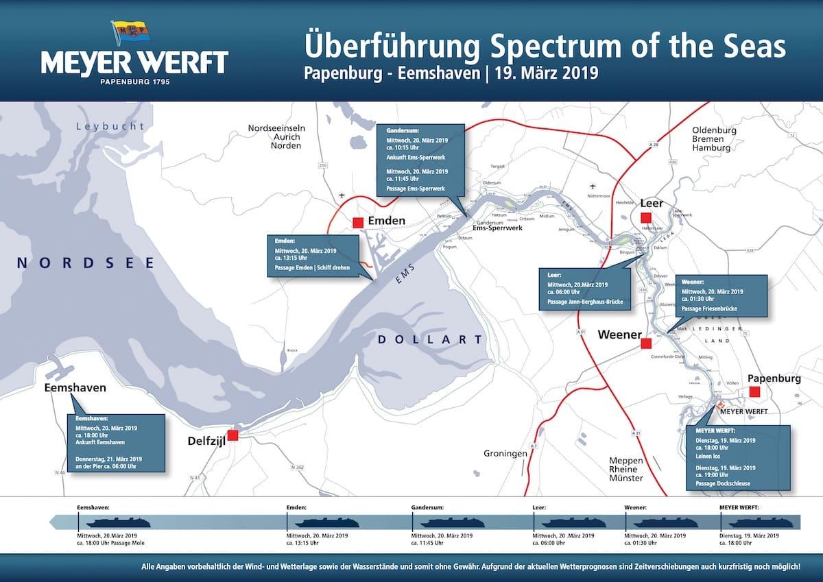 Detailplan der Spectrum of the Seas Emsüberführung / © Meyer Werft