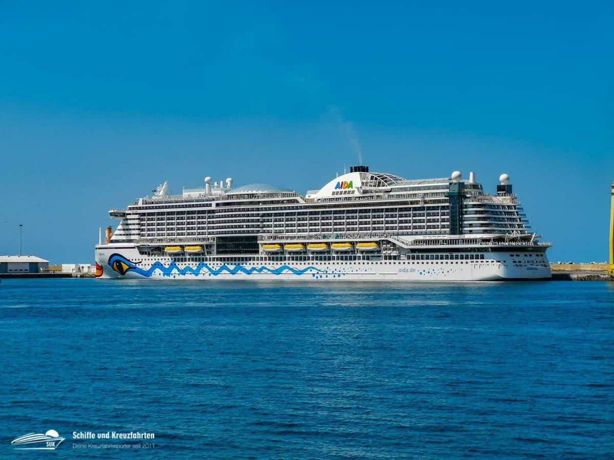 Aktueller Standort der AIDA Kreuzfahrtschiffe (31.03.2020)