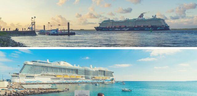 Mein Schiff 4 trifft AIDAnova in Marseille