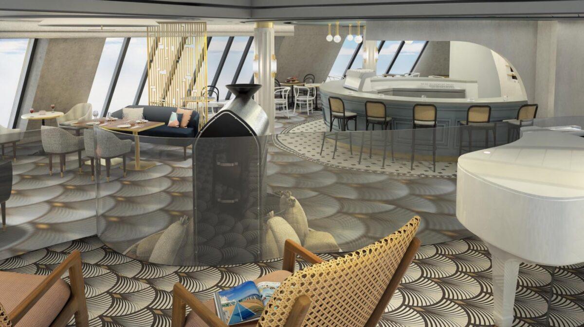 Café Lounge | © Rendering TUI Cruises