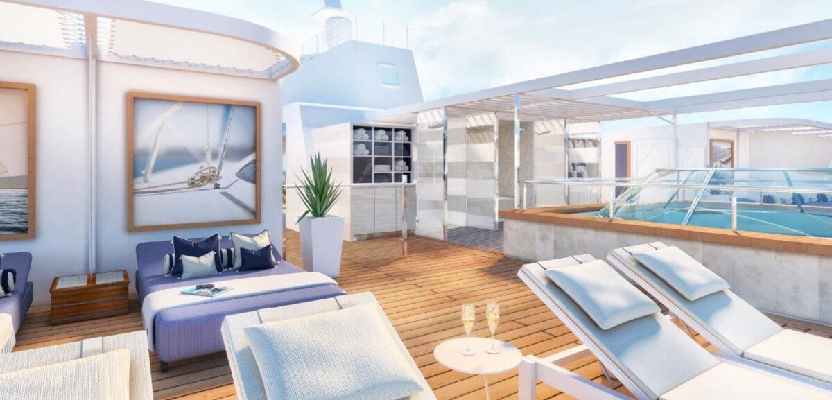 Neues X-Sonnendeck Mein Schiff 4 | © Rendering TUI Cruises