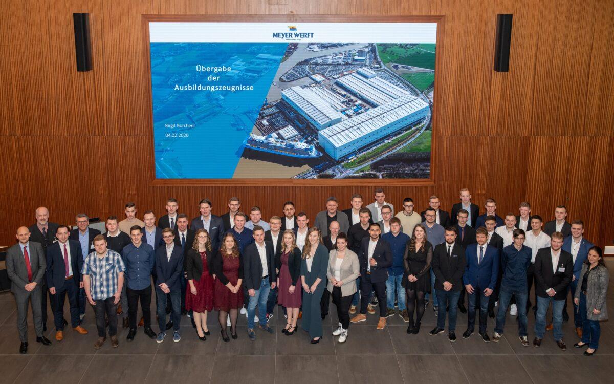 Meyer Werft: Auszubildende absolvieren Abschlussprüfung